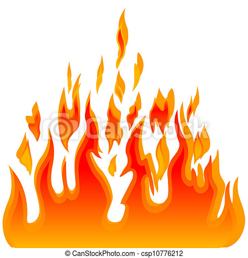 Burn flame fire vector background - csp10776212