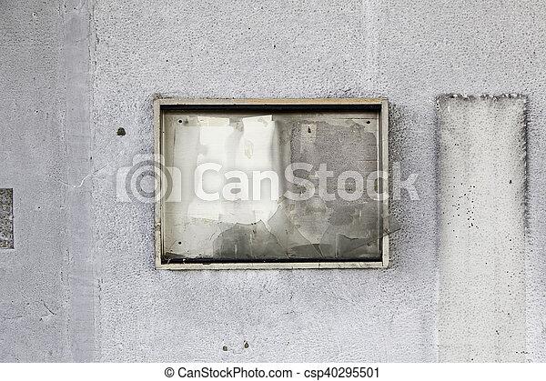 Burned wall - csp40295501