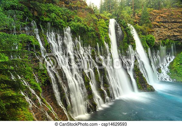 Burney Falls waterfall in California near Redding - csp14629593