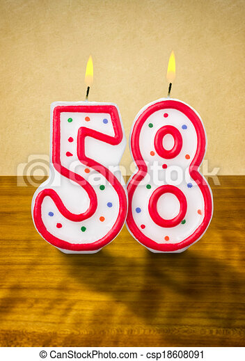 58 >> Burning Birthday Candles Number 58