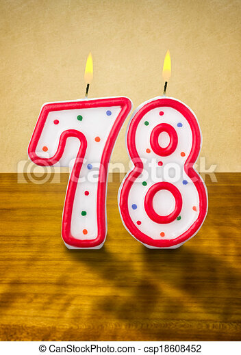 78 >> Burning Birthday Candles Number 78