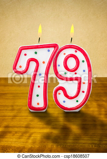 79 >> Burning Birthday Candles Number 79