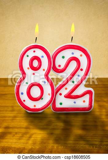 82 >> Burning Birthday Candles Number 82