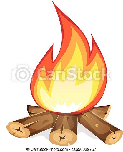 burning bonfire with wood illustration of a cartoon bonfire rh canstockphoto com clipart bonfire night free bonfire clipart