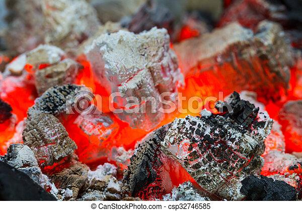 Burning charcoal - csp32746585