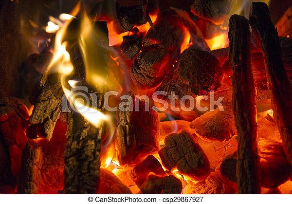 burning charcoal - csp29867927