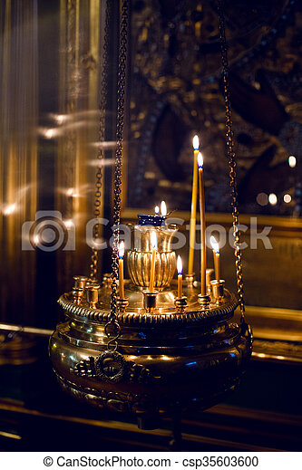 Church candles with a background bokeh at Easter. Stock Video Footage -  VideoBlocks
