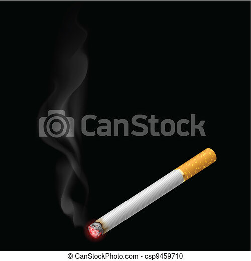 Burning cigarette - csp9459710