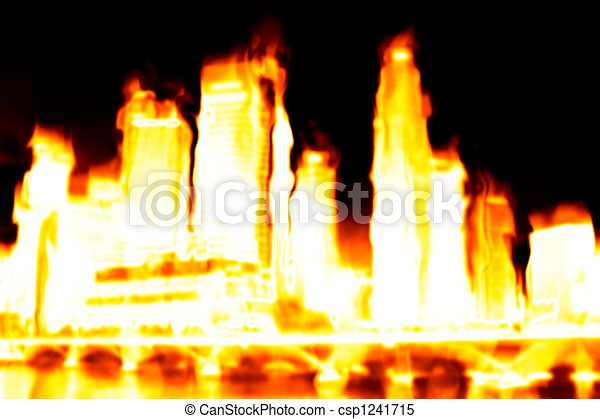 Burning City Apocalypse - csp1241715