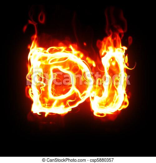 burning dj word - csp5880357