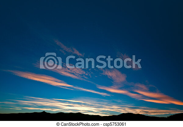 Burning evening sky towards end of sunset - csp5753061