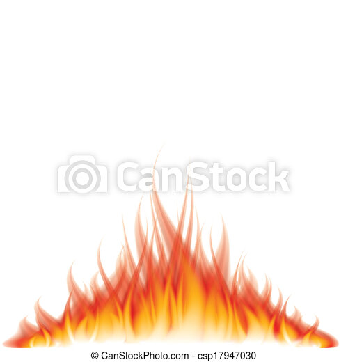Burning fire on white vector illustration - csp17947030
