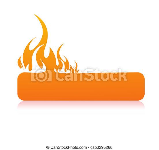 Burning flame banner  - csp3295268