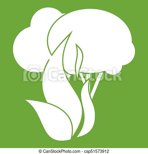 Burning forest trees icon green - csp51573912