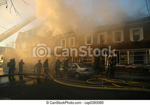 Burning home - csp0393080