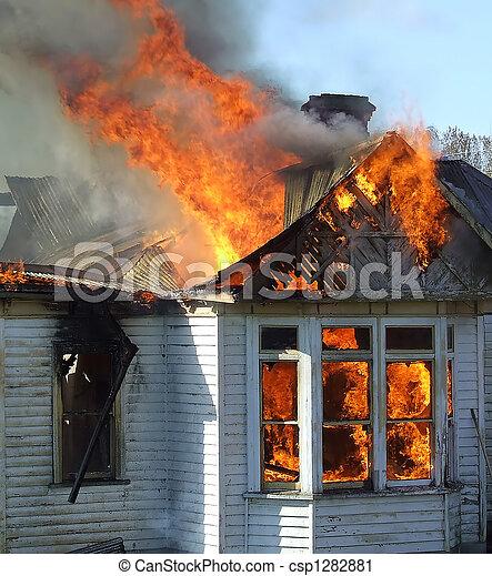 Burning House - csp1282881