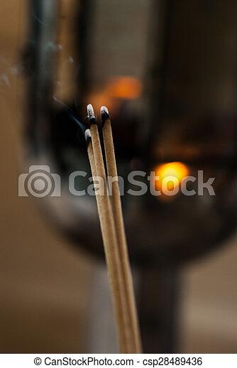Burning incense - csp28489436