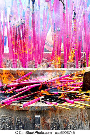 burning luck incense