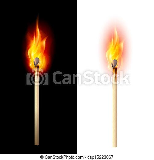 Burning match - csp15223067