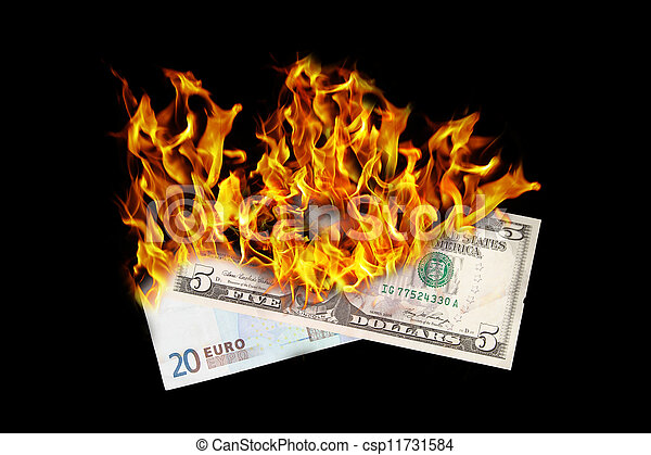 Burning money - csp11731584
