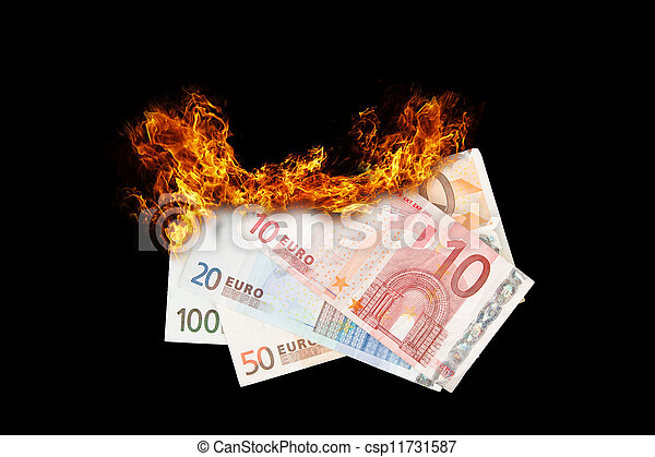 Burning money - csp11731587
