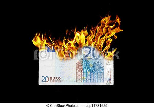 Burning money - csp11731589
