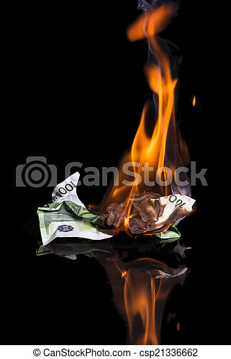 burning money - csp21336662