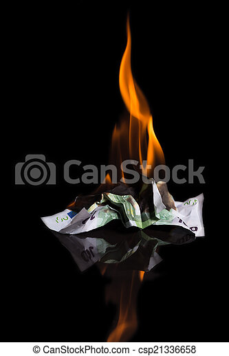 burning money - csp21336658