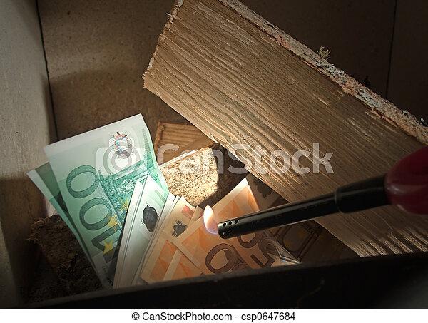 burning money - csp0647684