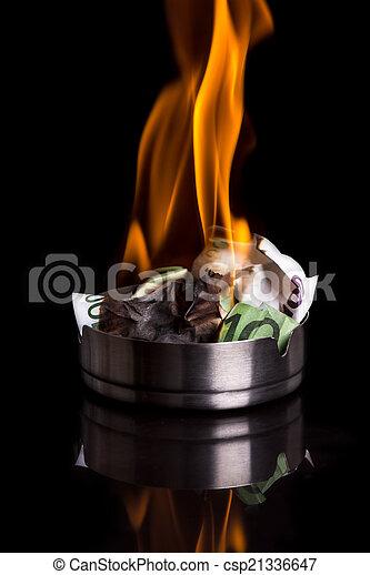 burning money - csp21336647