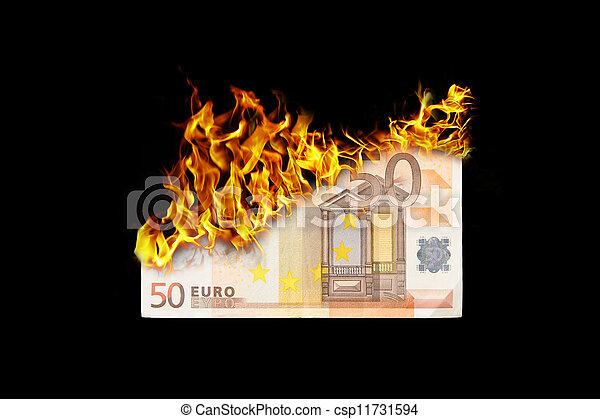 Burning money - csp11731594