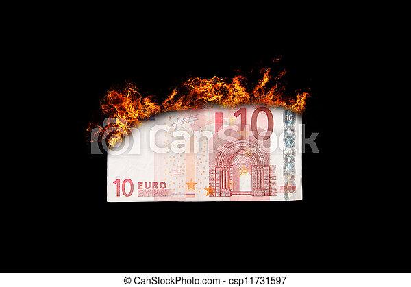 Burning money - csp11731597