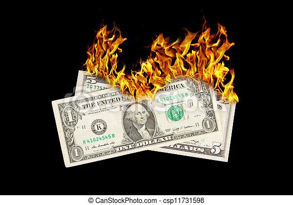 Burning money - csp11731598