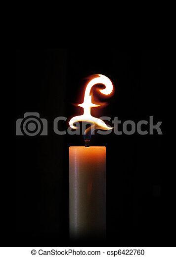 Burning money - csp6422760