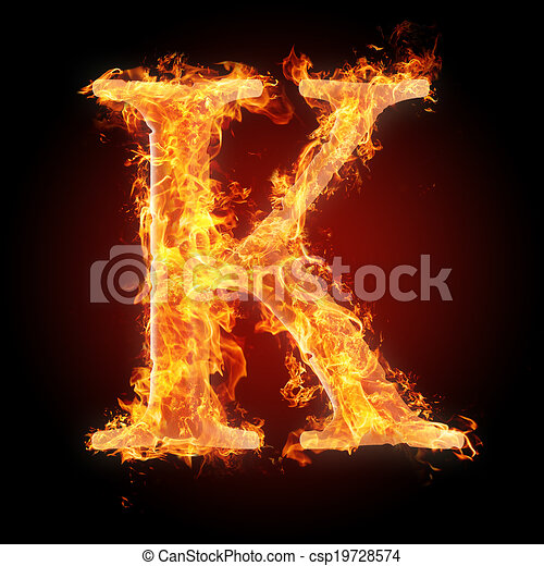 Burning Objects And Objects On Fire Background Letters And Symbols