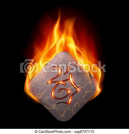 Burning rune stone - csp9737113