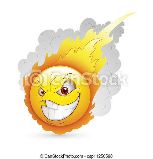 Burning Smiley Expression - csp11250598