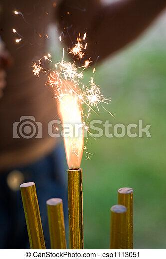 Swell Burning Sparkler Five Birthday Cake Sparklers One Burning Funny Birthday Cards Online Drosicarndamsfinfo