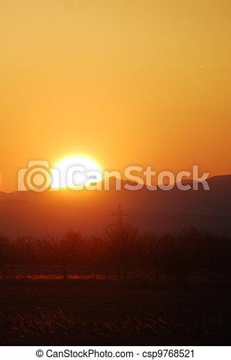 burning sun - csp9768521