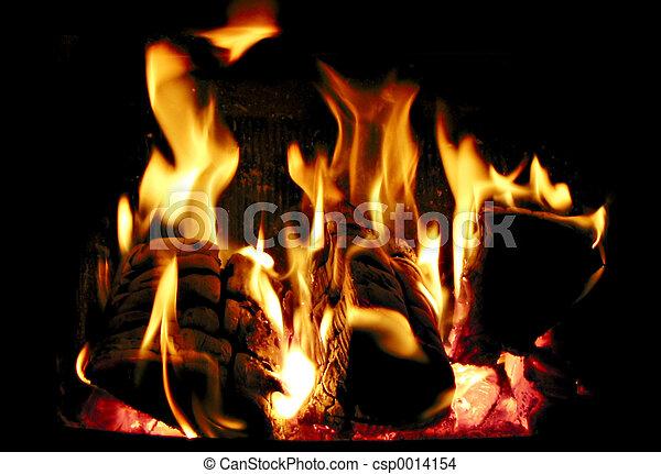 Burning wood - csp0014154