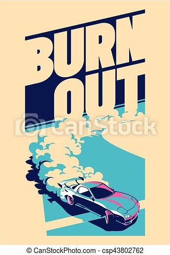 Burnout car, Japanese drift sport, Street racing - csp43802762