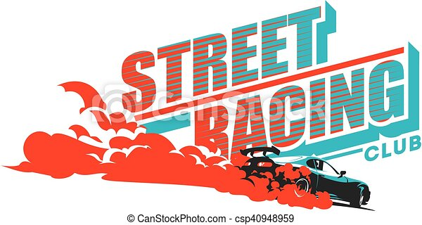 Burnout car, Japanese drift sport, Street racing - csp40948959