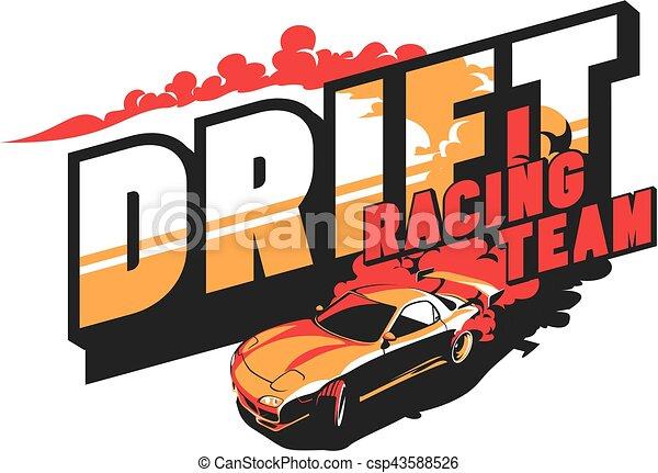 Burnout car, Japanese drift sport, Street racing - csp43588526