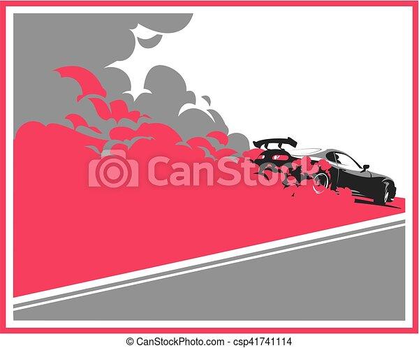 Burnout car, Japanese drift sport, Street racing - csp41741114
