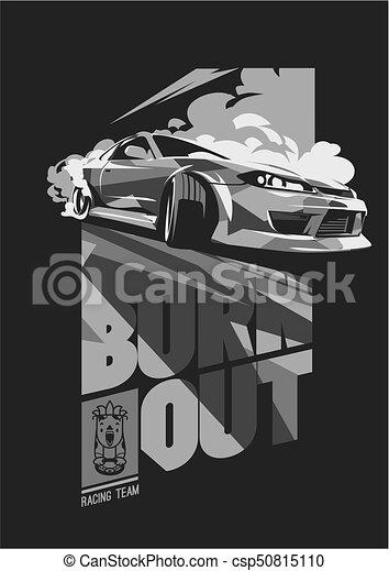 Burnout car, Japanese drift sport, Street racing - csp50815110