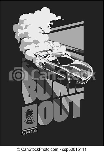 Burnout car, Japanese drift sport, Street racing - csp50815111