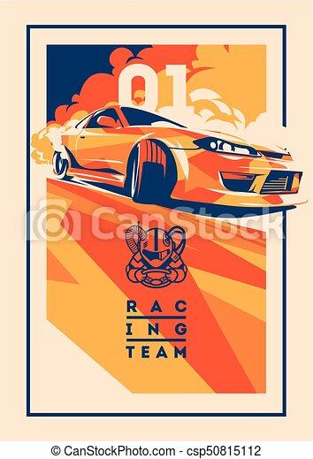 Burnout car, Japanese drift sport, Street racing - csp50815112