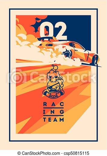 Burnout car, Japanese drift sport, Street racing - csp50815115
