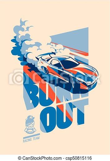 Burnout car, Japanese drift sport, Street racing - csp50815116