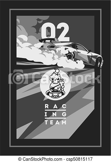 Burnout car, Japanese drift sport, Street racing - csp50815117